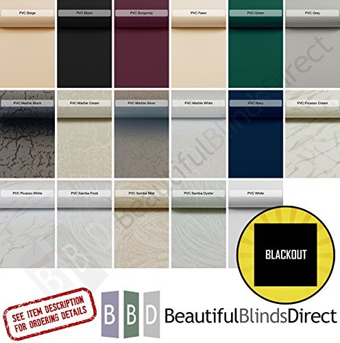 Beautiful Blinds PVC Blackout Vertical Blind Replacement Slats (3.5 Wide - Various Pack Quantities) Including Hangers, Weights and Chain,Free Delivery,Any size up to 2500mm.!! (15)