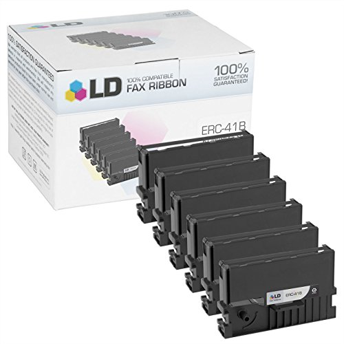 LD © Compatible Epson ERC-41 Set of 6 Black Printer Ribbons
