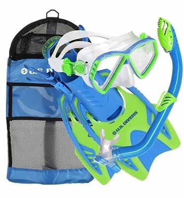 U.S. Divers Junior Regal Mask, Trigger Fins and Laguna Snorkel Combo Set
