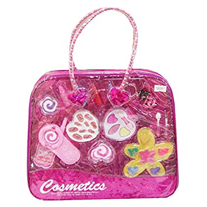 5fd4ea63e Amazon.com: Liberty Imports Petite Girls Cosmetics Play Set | Washable &  Non Toxic | Princess Real Makeup Kit with Case | Ideal Gift for Kids  (Purse): Toys ...