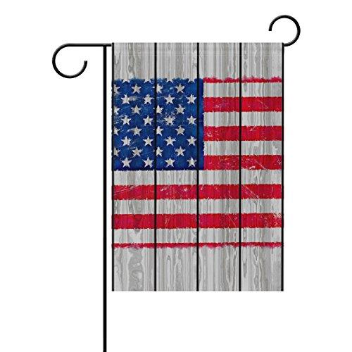 "LEISISI Grunge Style America Flag On Wood Garden flag 28""X40"