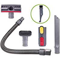 I-clean Attachments for Dyson V8,V8 Absolute,V6, V7, DC58,DC59, 5 Packs Replacement Handheld Vacuum Cleaner Dyson Hose Parts, Bonus A Free Cleaner Brush