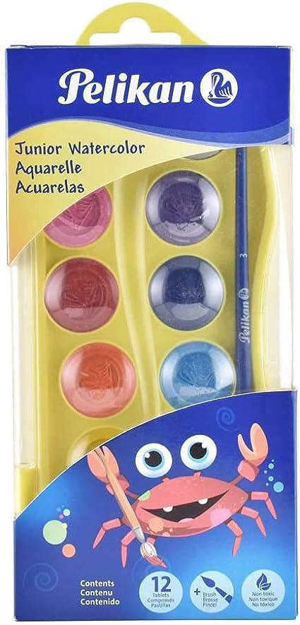 Acuarela Pelikan Junior 12 Colores Estuche De Plastico: Amazon.es: Hogar