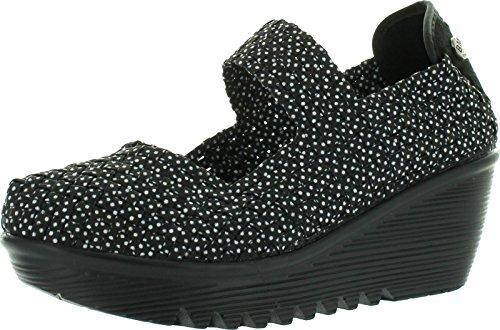 Bernie Mev Womens Lulia Casual Wedge Shoes,Black Polka Do...