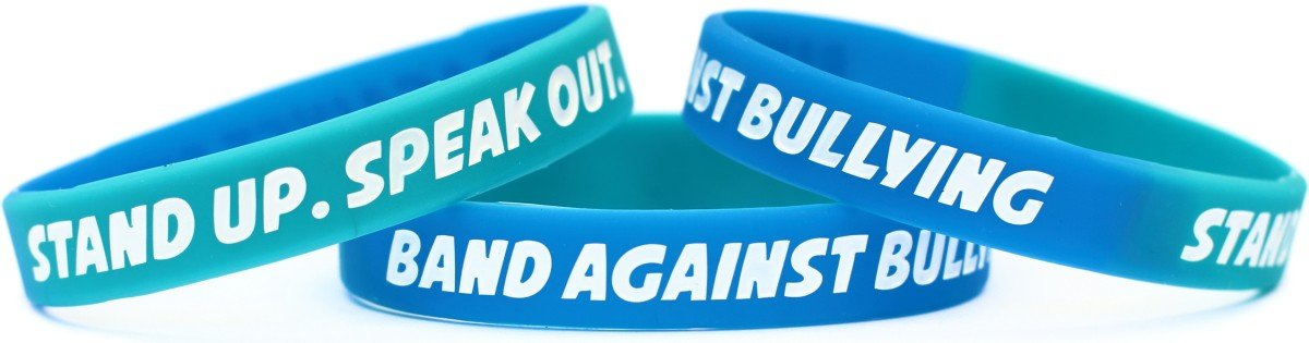 bracelet a lend sided green silicone p hand stop take bullying stand