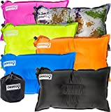 Camping-Pillow--Inflatable-Air-Pillow-20in-x-12in-105oz-Self-Inflating-Compressible-Best-for-Outdoor-Trips-Bac