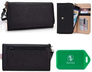 *MeTRo SeRies* ladies two toned wallet phone case in Black/Black for*Samsung Galaxy Note II N7100