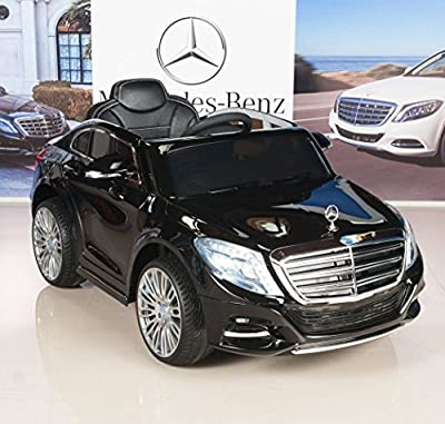 Mercedes-Benz S600 12V Kids Ride On Battery Powered Wheels Car RC Remote Black