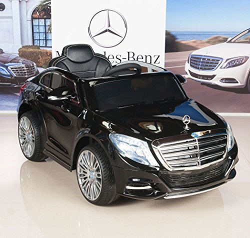 Mercedes-Benz-S600-12V-Kids-Ride-On-Battery-Powered-Wheels-Car-RC-Remote-Black