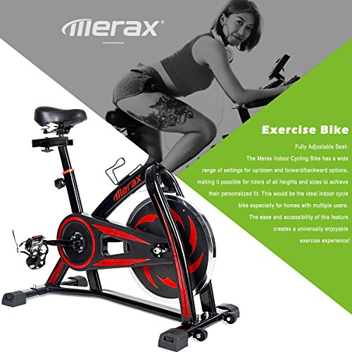 Merax S301 indoor Cycling Bike Cycle Trainer Exercise Bicycle (Color Red)