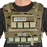 Weight Vest 45 Lb. V-Force, Multi Cam, with Wide Shoulders