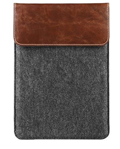 MEDION Filz Tasche (MD 90218) (Leder-Filz, passend für Tabletmodelle bis 10,1