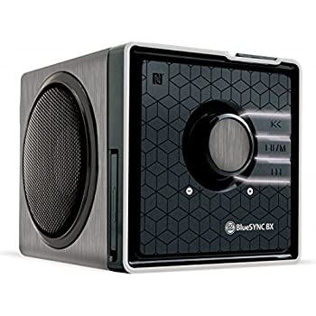Portable Bluetooth Wireless Speaker by Gogroove - NFC Tap to Pair , Built in Microphone , Removable Battery & AUX - Pairs with iPhone , Android , & More Smartphones - Silver