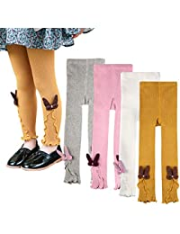 ea71e153bd99c Toddle Baby Girls Leggings Basic Ribbed Kids Little Girl Footless Pants  Tights Warm Stockings 1-