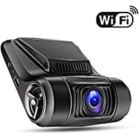 WiFi Dash Cam - Oldshark FHD 1080P Car Dashboard Camera Recorder, 170 Wide-Angle Car Dash Cam with APP, Vehicle Videos Recorder with G-Sensor, WDR, Loop Recording, Night Mode, Parking Mode