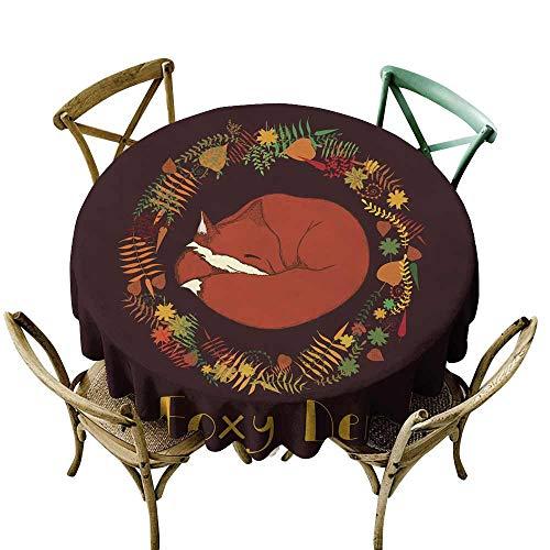 SKDSArts Waterproof tablecloths Foxy Den D54,Rectangle Tablecloth Dinner Picnic -