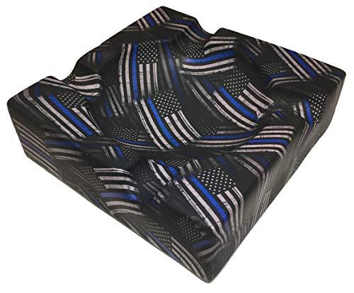 Bag R Buck Cigar Ashtray Custom American Flag Thin Blue Line Satin Legion of Ash Designer Series