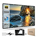 OWLENZ 120 inch Enhanced PVC Material Projector Screen 16:9 Ratio HD...