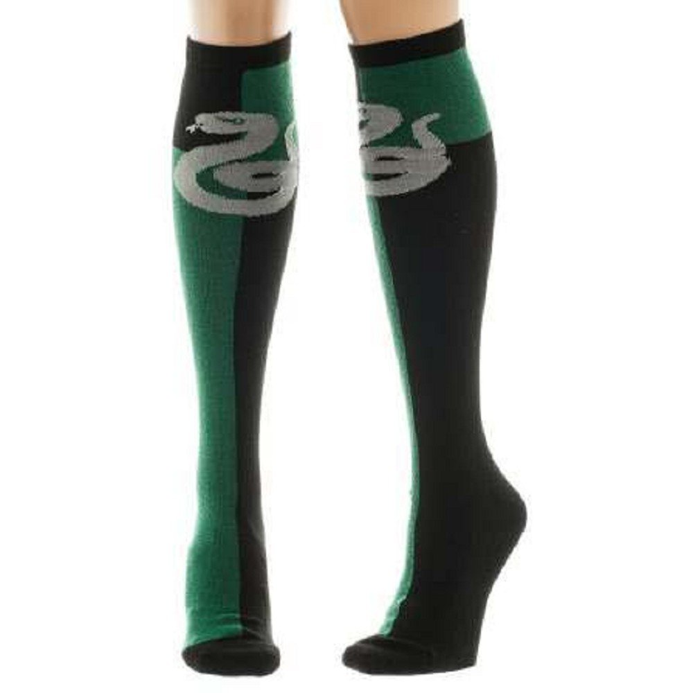 52c64ecf3 Amazon.com  Harry Potter Slytherin Crest Knee High Socks Multi One Size   Clothing