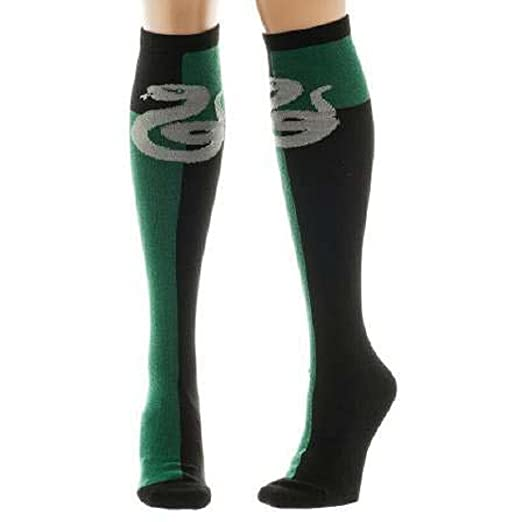769e36ca3 Image Unavailable. Image not available for. Color  Harry Potter Slytherin  Crest Knee High Socks ...