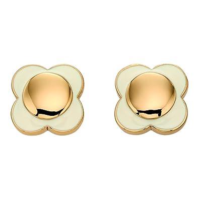 Orla Kiely Dasiy Chain Cream Flower Stud Earrings OHFeNr5jf