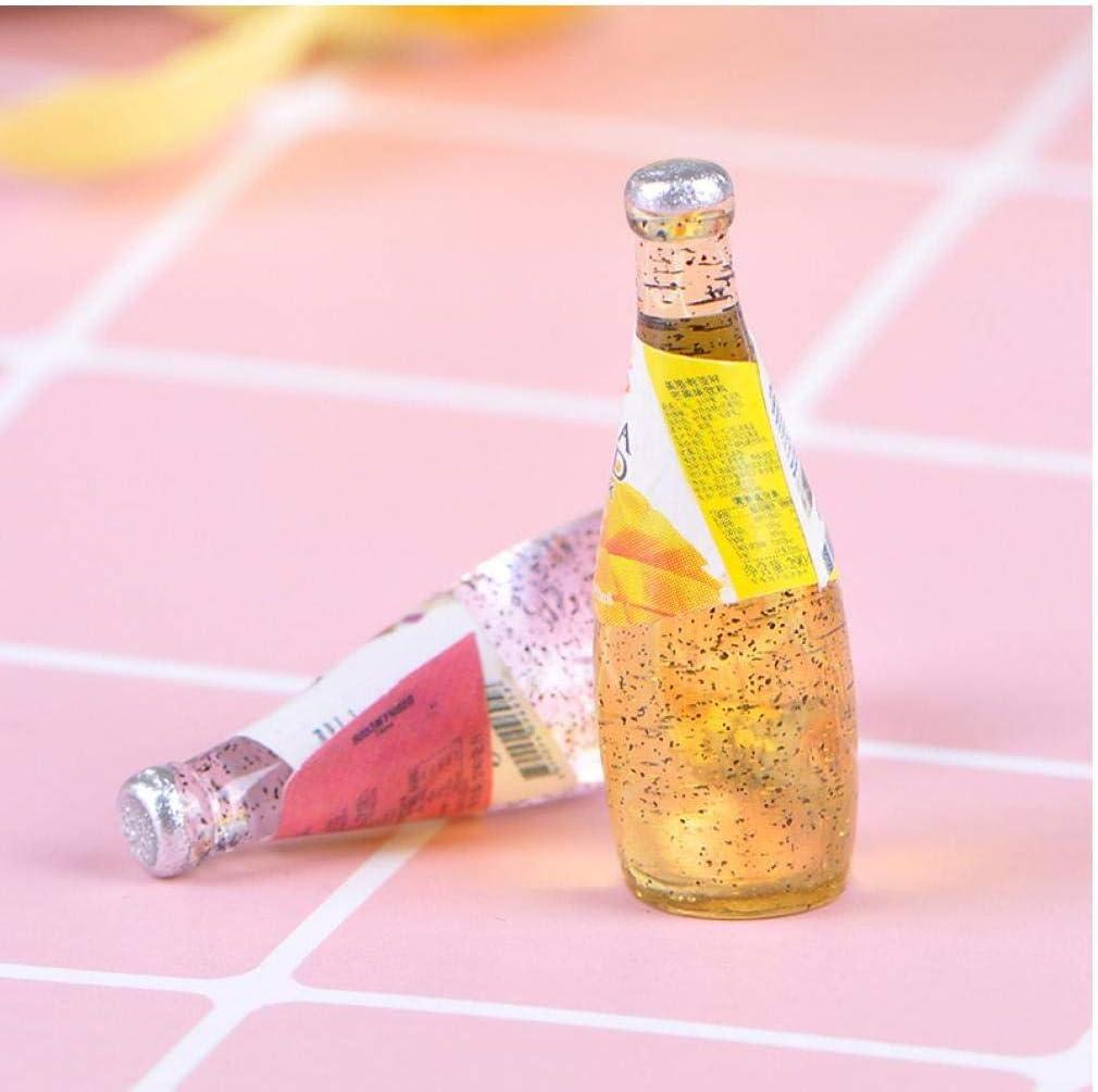 Angoter DIY K/üche Zimmer Essen und Trinken Getr/änke Cup f/ür Puppe Miniatur-Puppen Mini Fruit Drink Modell Mini Welt Puppen Zubeh/ör Zuf/ällige Stil