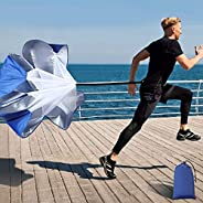 Running Speed Training, 56 Inch Speed Chute with Carry Bag, Resistance Running Parachute for Football Soccer T