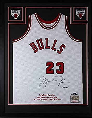 Michael Jordan Autographed Red Bulls Jersey - Beautifully Matted and ...
