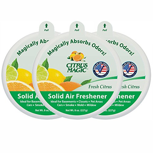(Citrus Magic BMT616472149 Solid Air Freshener Fresh Citrus, Pack of 3, 8-Ounces )