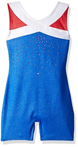 Freestyle by Danskin Big' Girls' Gymnastics Biketard, True Blue, XS