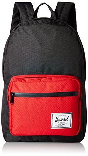 Herschel - Mochila Casual Adultos Unisex Black Scarlet