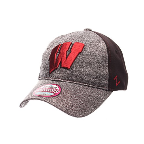 Zephyr NCAA Wisconsin Badgers Women's Harmony Performance Hat, Grey/Black, Adjustable