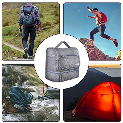 HOKEMP Toiletry Bag Travel Waterproof Cosmetic Bag Multifuncation Organizer Bag Portable Makeup Pouch - Gray by HOKEMP (Image #6)