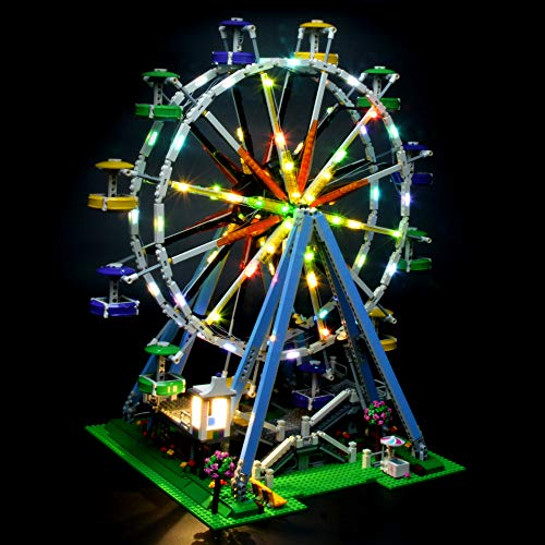 (LIGHTAILING Light Set for (Creator Expert Ferris Wheel) Building Blocks Model - Led Light kit Compatible with Lego 10247(NOT Included The Model))