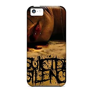 JasonPelletier Iphone 5c Bumper Hard Phone Cover Support Personal Customs High-definition Suicide Silence Image [MvO508poRf]
