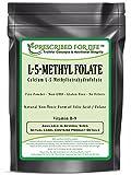 MethylFolate (L) - Natural 5-MethylTetraHydroFolate Vitamin B-9 Pure Folic Acid Powder, 2 oz
