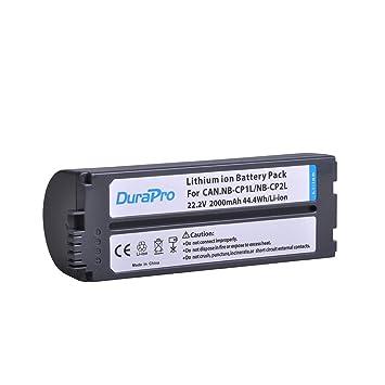 DuraPro NB-CP2L CP2L - Batería para impresoras Canon NB-CP1L CP2L Canon SELPHY CP800, CP900, CP910, CP1200, CP100 y CP1300 (1 Pieza, 2000 mAh)