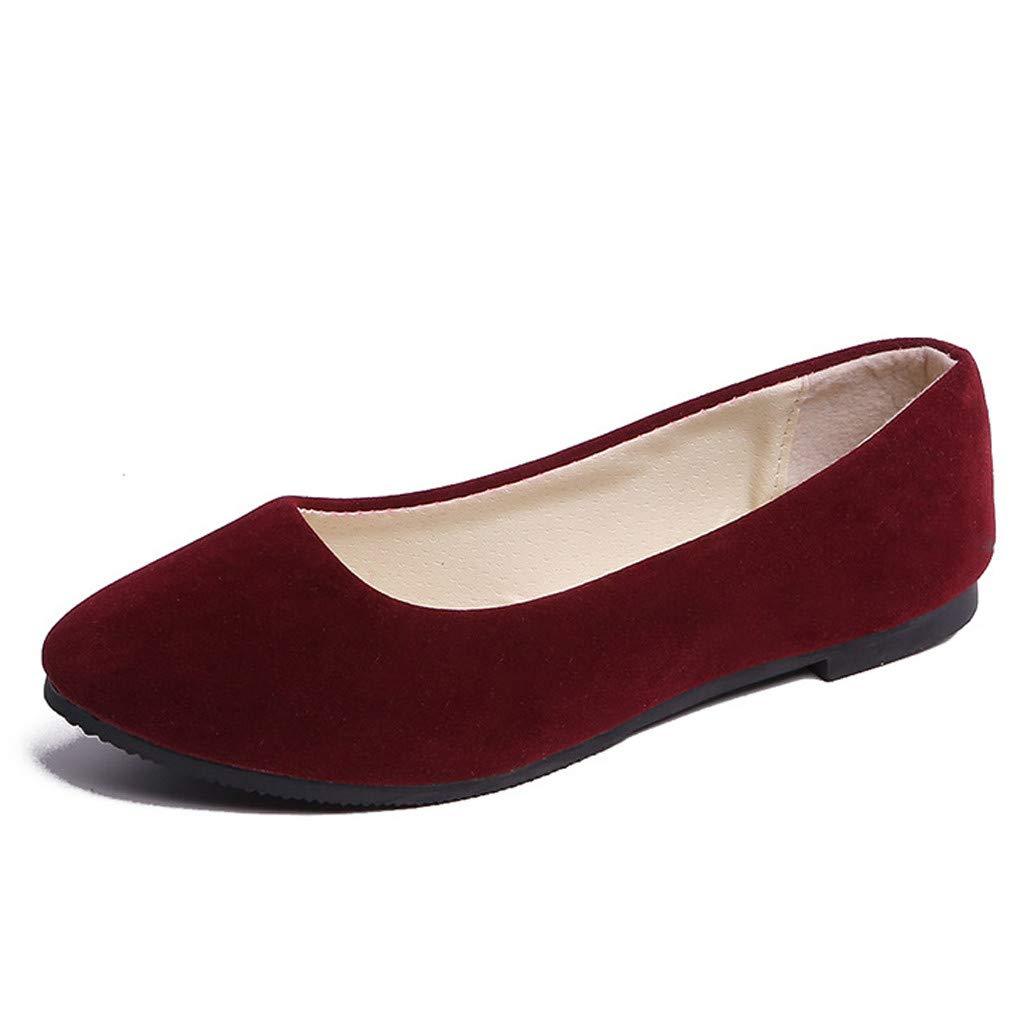 Longzjhd Femmes Solide Grande Taille Seule Chaussures Filles Casual Slip sur Chaussures Plates Chaussures Classiques Confort Peu Profond Chaussures de Voile Cricket Chaussures Bateau