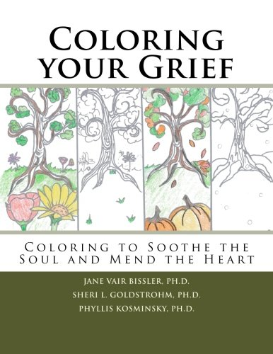 Amazon Coloring Your Grief To Soothe The Soul And Mend Heart 9781523784486 Dr Jane Vair Bissler Sheri L Goldstrohm