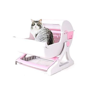 DJLOOKK Caja de Arena para Gatos de Limpieza rápida semiautomática para Gatos, baño de Lujo para Gatos,Pink: Amazon.es: Deportes y aire libre