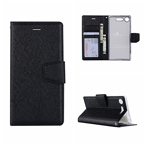 Mistars Wallet Flip Case for Sony Xperia XZ1, Luxury PU Leather with...