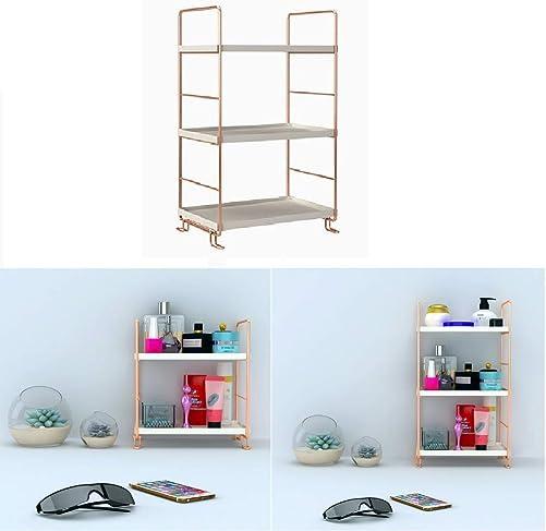 3-Tier Freestanding Stackable Organizer Shelf,Kitchen Spice Rack Corner Storage Shelf,Bathroom Countertop Storage Shelf Cosmetic Organizer Holder