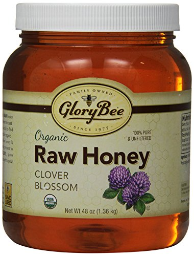 GloryBee Organic Raw Clover Honey, 48 Ounce