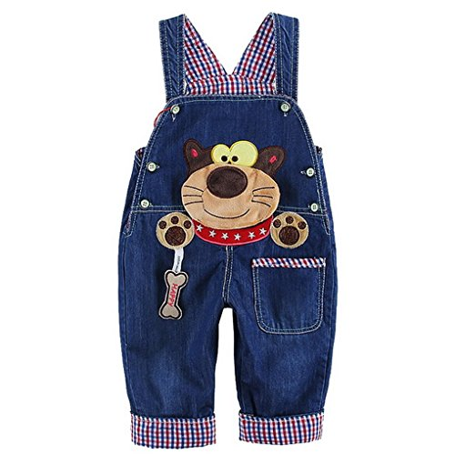 Pattern Blue Jumpsuit 1 Jeans Baby Kid Girl cinturino Jumpsuit Tute con Animal Mignion Jeans Pants Acmede Boy EPfdq1qaw