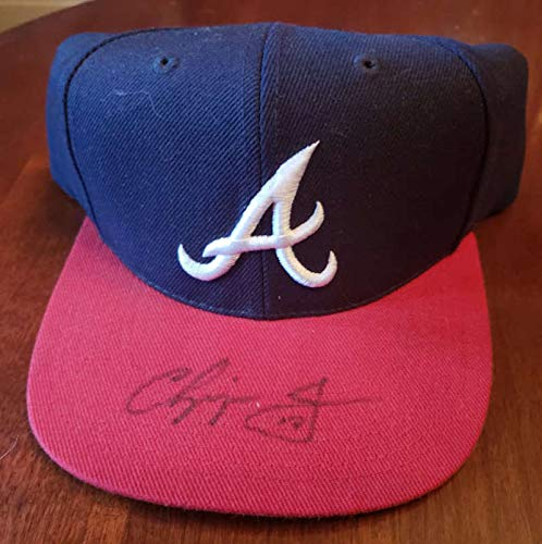 CHIPPER JONES PSA DNA Coa Autograph Braves Hat Hand Signed