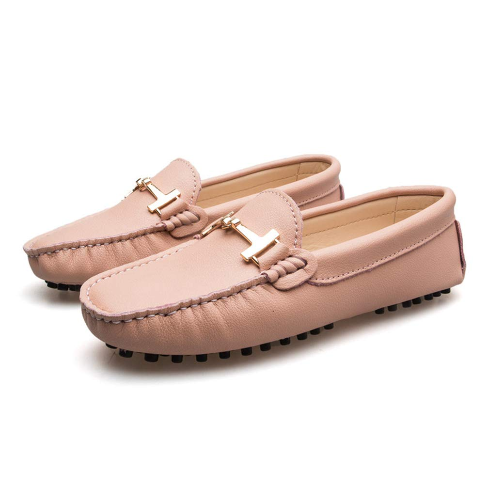 JOYBI Slip On Loafers for Women Wide Width Square Toe Metal Chain Soft Upper Comfortable Casual Driving Walking Penny Flats Shoes