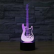 3D LED RGB Changeable Night Light Luminaria Led Lights Novelty Electric Guitar Abajur Led USB Power Bank Laval Table Lamp Kids