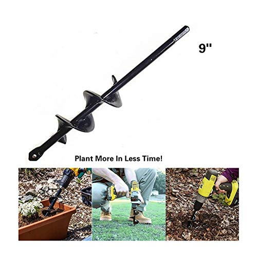 1.60″ x 9″ Planter Backyard Auger Spiral Drill Bit Attachment Bulb Plant Publish Bedding Planting Auger Instrument (Drill is just not Included)