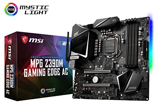 MSI MPG Z390M Gaming Edge AC LGA1151 (Intel 8th and 9th Gen) M.2 USB 3.1 Gen 2 DDR4 HDMI DP Wi-Fi SLI CFX Micro ATX Z390 Gaming Motherboard ()