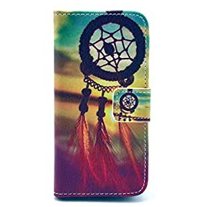 LUOLNH (TM) - iPhone 5S Protective Case, Magnetic Flip Stand Card Holder Wallet PU Leather Case Pouch Cover ( Campanula)